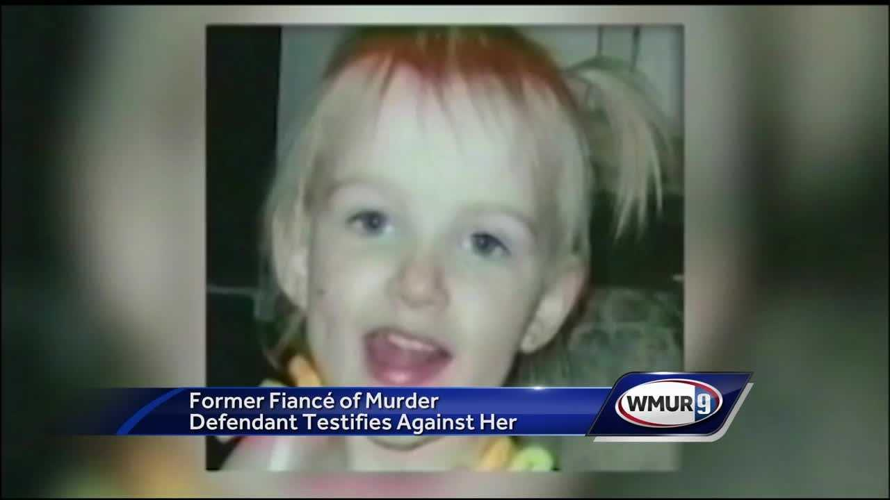 Hours of videotaped police interviews of the ex-fiance of a Nashua woman accused of killing her 3-year-old daughter were played at the woman's trial Thursday.