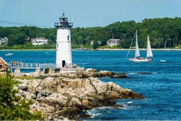 The home is also near the mouth of the Piscataqua River where it meets the Atlantic Ocean.