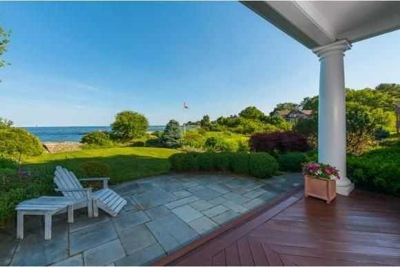 The home has a private oceanfront deck.
