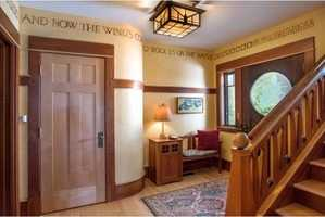A look at the home's entrance area.