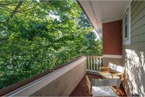 Here's a look at a shaded balcony.
