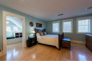 A look inside one of the home's bedrooms.