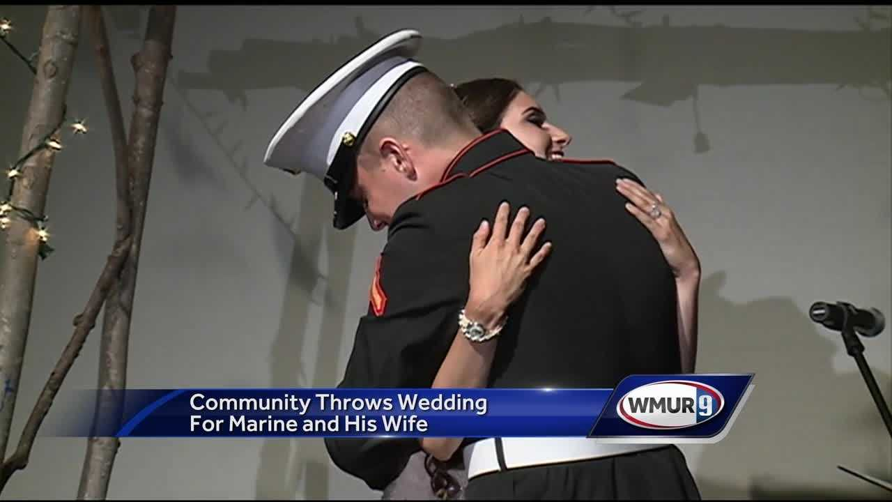 The Boys and Girls Club of Milford organized a surprised wedding for a marine and his wife who both met at the club years ago.