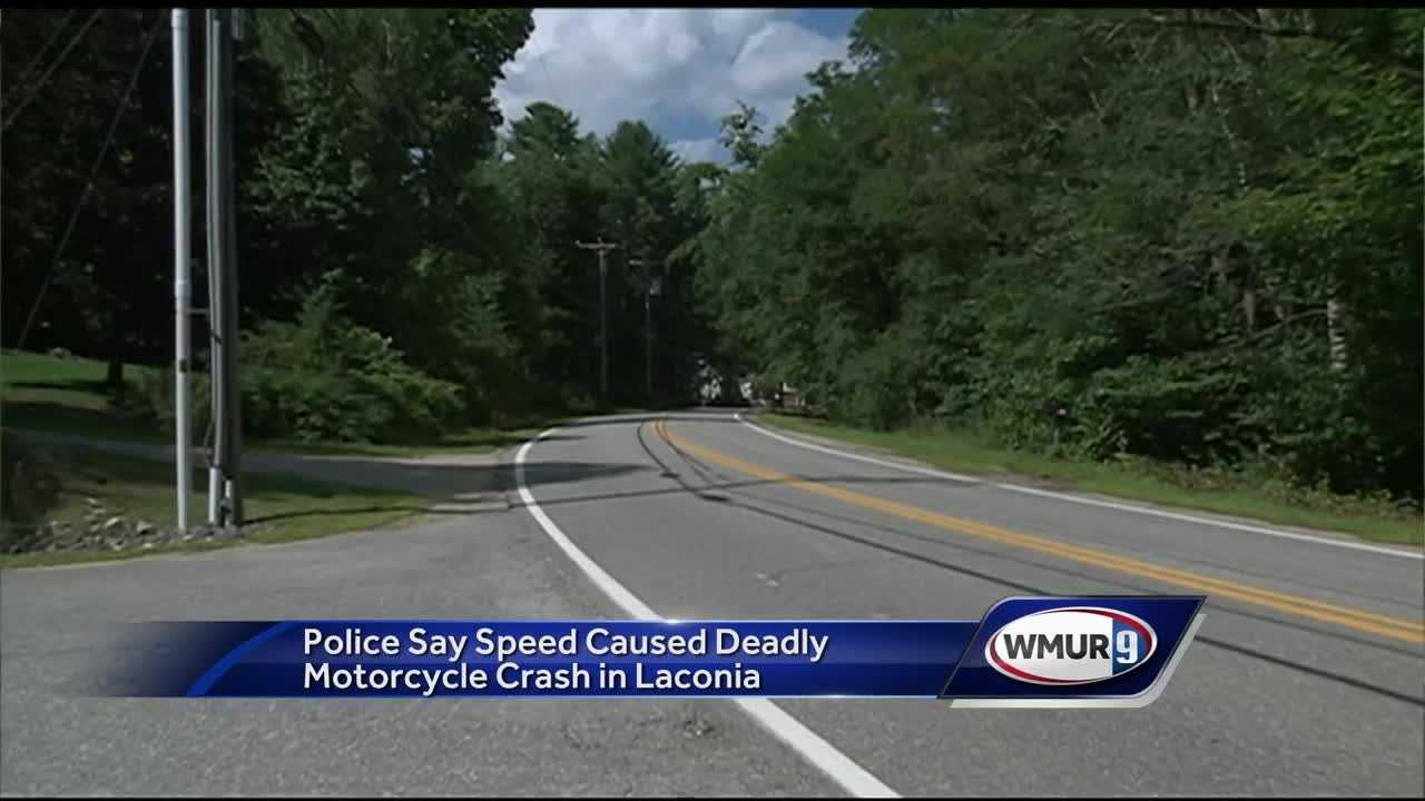 A motorcyclist was pronounced dead after he crashed at a high speed in Laconia.