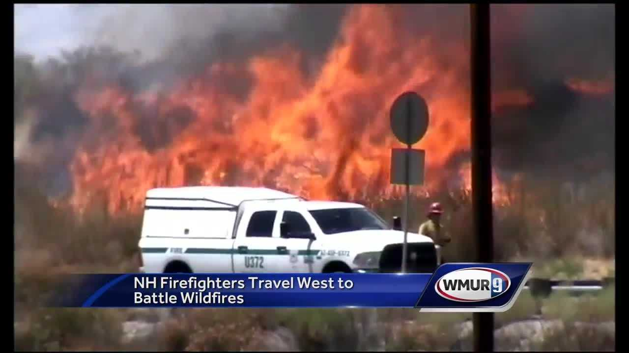 A group of firefighters from New Hampshire are heading west to help battle wildfires in California and other states.