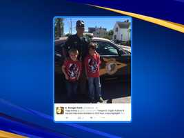 A state trooper helped save a family's vacation after a tire on their car blew out on their drive to Mount Washington.
