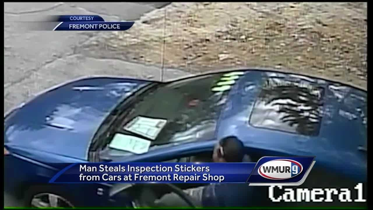 Fremont police are looking for the person who stole inspection stickers from the insides of car windshields.