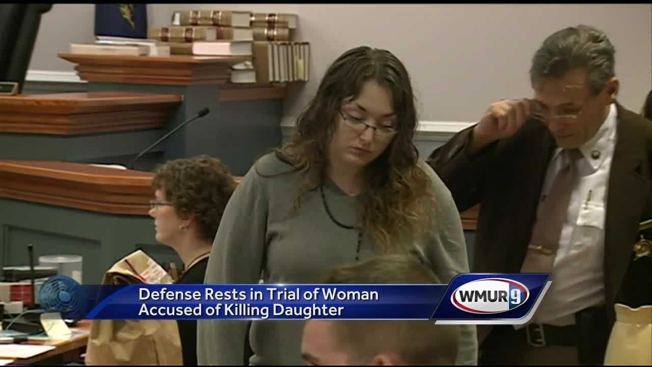 The defense rested its case Thursday in the trial of a Nashua woman accused of killing her toddler.