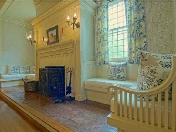 The home as 7 fireplaces scattered throughout 10,236-square feet of space.