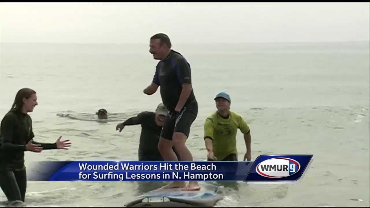 Tonight, a nine-year tradition continued Friday in North Hampton, as wounded warriors from across New England hit the beach.