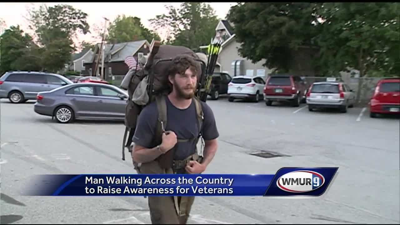 An Army veteran is walking across country to raise money and awareness for wounded and suicidal veterans.