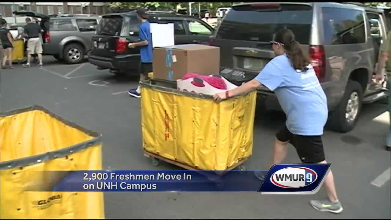 Friday was move-in day for first year students at UNH.