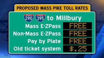 Interstate 90/Mass Pike from Interstate 290/395 in Auburn to Millbury.