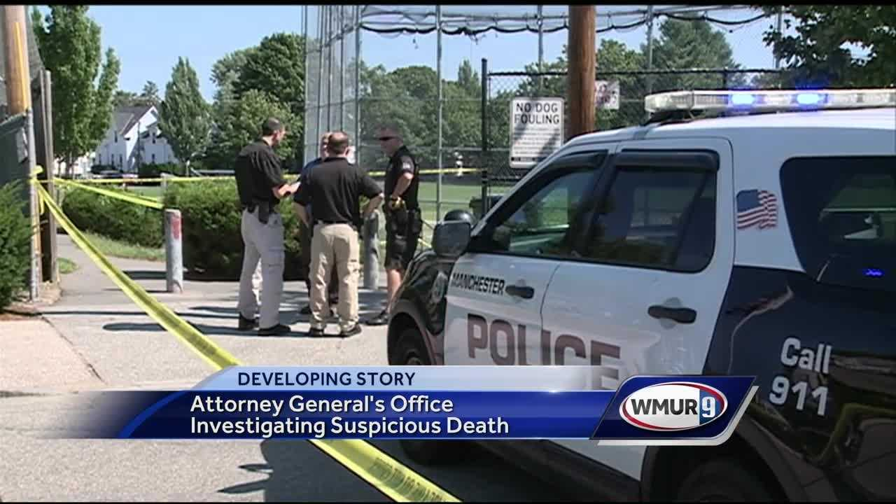 The attorney general is investigating a dead body that was found at Prout Park in Manchester.