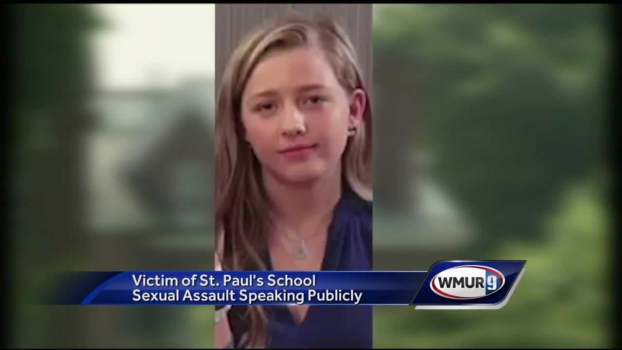 A St. Paul's School student who said she was sexually assaulted by an upperclassmen as part of a tradition at the elite boarding school called the Senior Salute has come forward on national television.