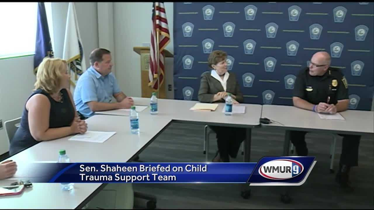The Manchester Police Department has created a new support team for traumatized children.