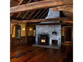 The home has many old-stye fireplaces.