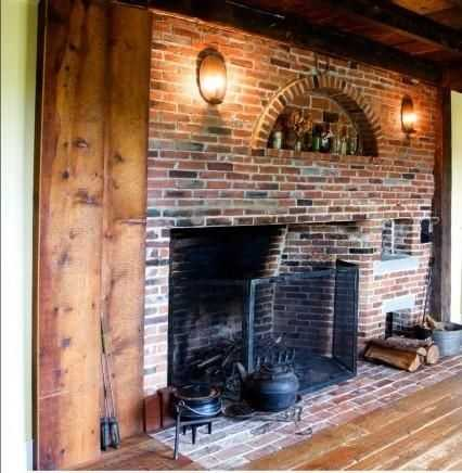Another look at a fireplace.