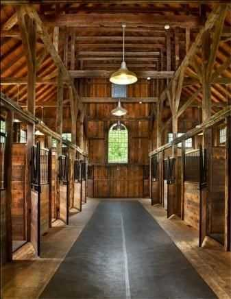 The home has a new barn that has 9 box stalls.