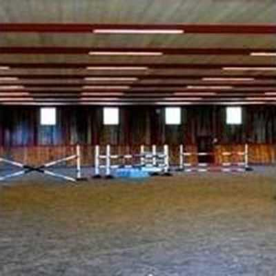 A look inside the horse arena.