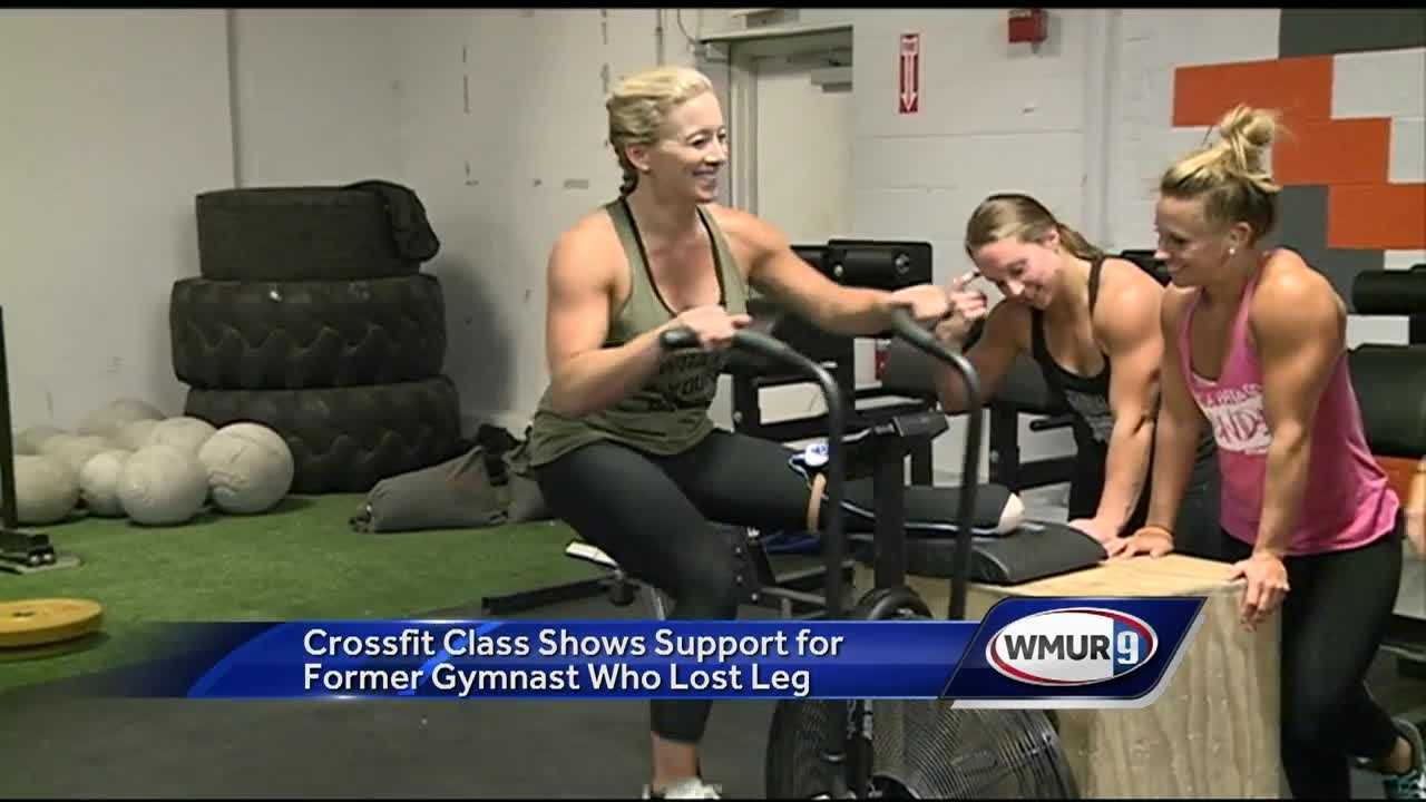 Christina Hurley was diagnosed with a rare vascular disease three years ago. After having her leg amputated in July, she is back at the gym.