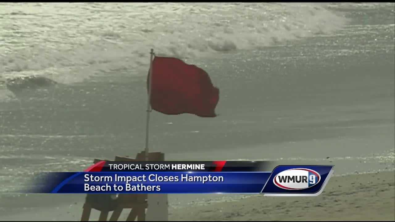 Bathing at Hampton Beach will be totally restricted starting on Tuesday due to the impact of Tropical Storm Hermine.
