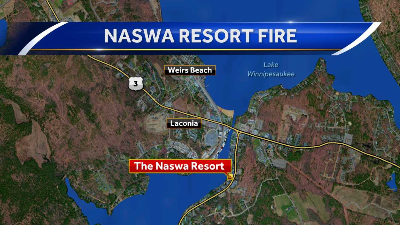 A fire broke out at the Naswa resort Monday night.