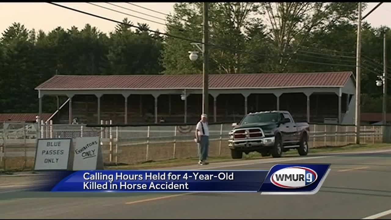 Calling hours were held Tuesday for a 4-year-old girl who was killed last week in an accident at a horse show.