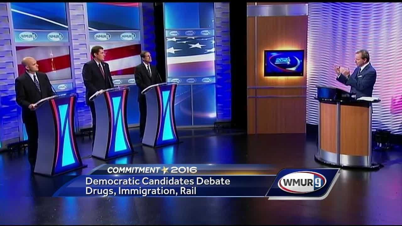 The Democratic candidates for governor sought to distinguish themselves from each other in Tuesday night's debate on WMUR.
