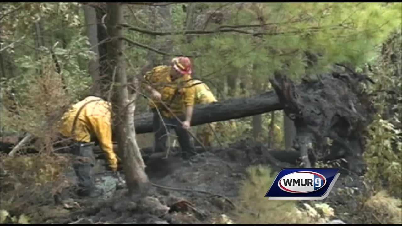 Firefighters are wrapping up a three-day battle against a stubborn brush fire in Acworth.