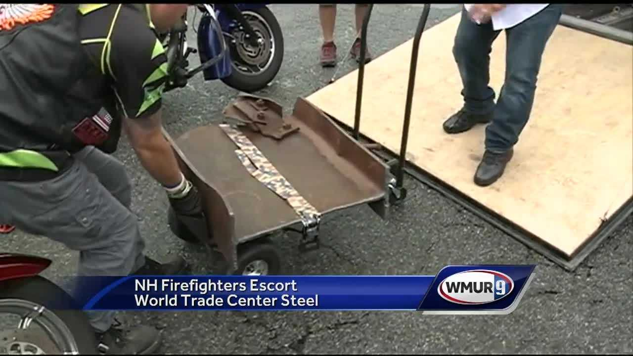 A piece of the World Trade Center was moving through the Granite State on Wednesday on its way to a small town in Canada that played an important role during the attacks of Sept. 11, 2001.