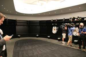 Here's a look inside the Bruins locker room at the practice facility.