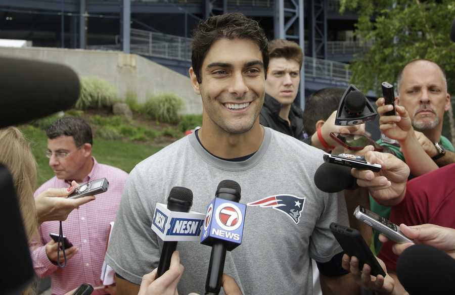 His nickname was JimBobPatriots nation has dubbed him Jimmy G, but before he got the heartthrob nickname, an Eastern Illinois coordinator dubbed the quarterback with the nickname, JimBob.