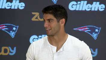 His mom wouldn't let him play footballAccording to an article in the Sun Day newspaper, Garoppolo's mother wouldn't let the now-starting quarterback of the New England Patriots play football until he was almost 12 years old. Three years later, he started practicing the quarterback position and the rest is history.