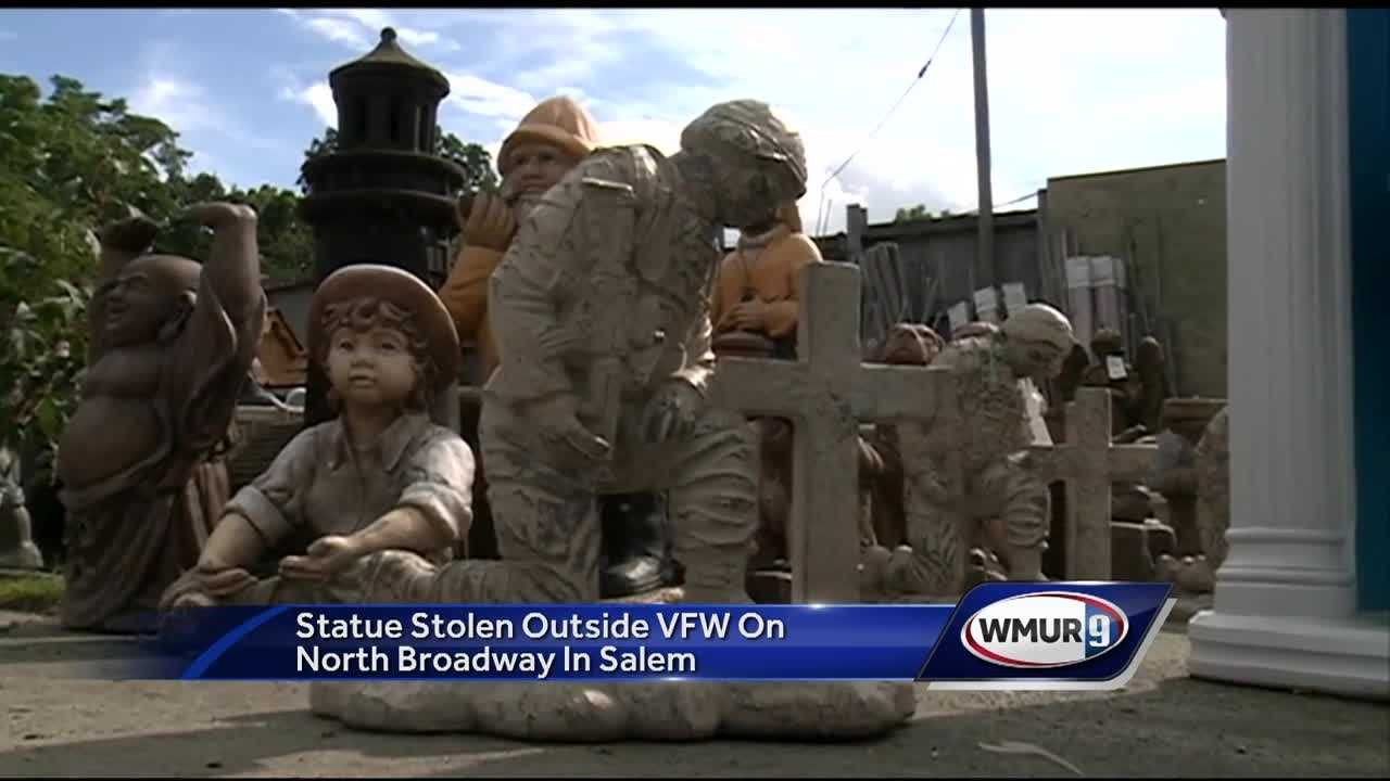 A statue of a kneeling soldier was stolen from a VFW in Salem, and its owners said they want to give the thief a chance to return it, no questions asked.