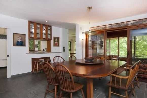 Here's a look at the home's spacious dining area.