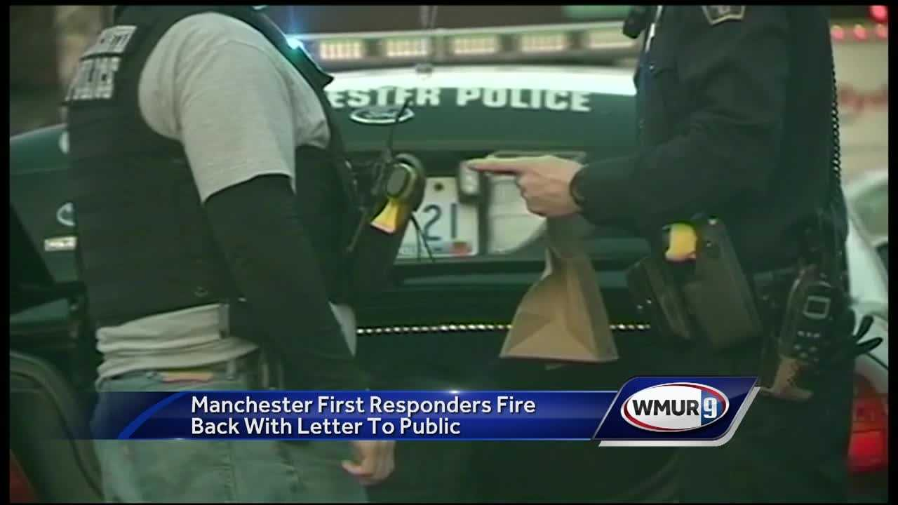 Manchester first responders are speaking out about the city's drug crisis through an open letter to the public.