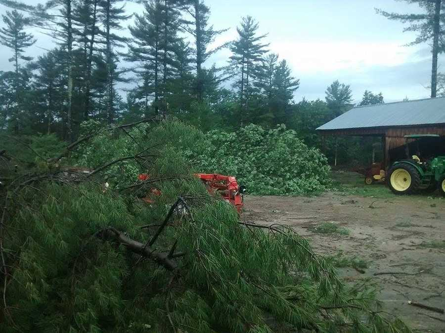 The damage at the property on Meaderboro Road was extensive. Courtesy - Karen Glendye Czifrik.