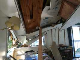 The damaged house in Barrington from the inside. Courtesy - Jessica Moreschi