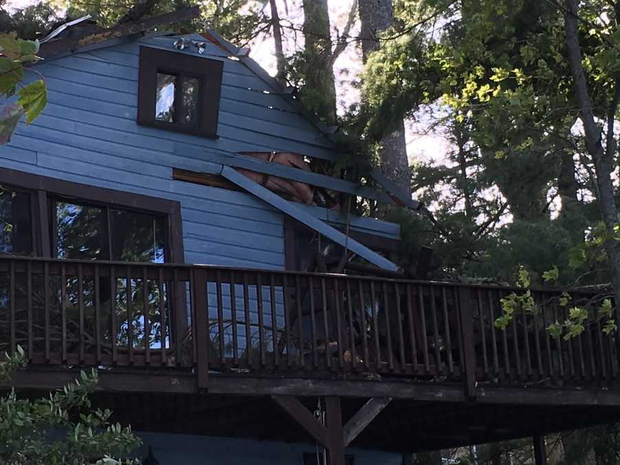 A closer look at the damaged home in Barrington. Courtesy - Jessica Moreschi