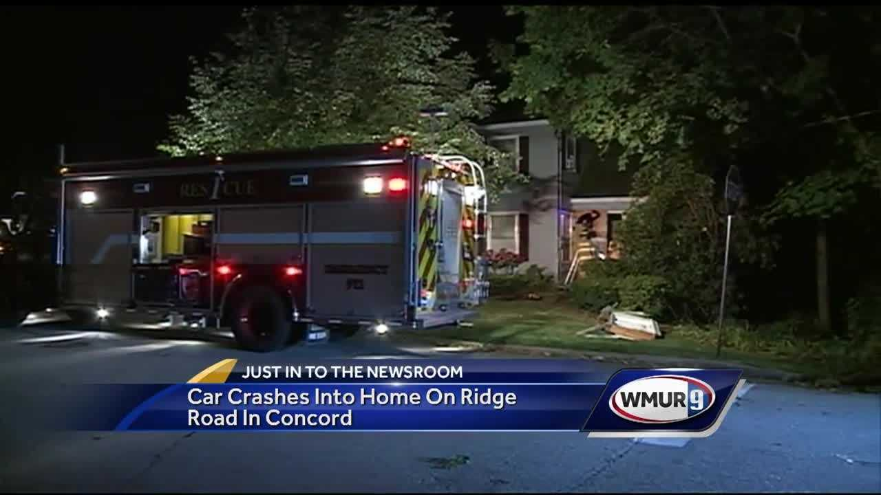 A distracted driver struck a home in Concord Sunday night.