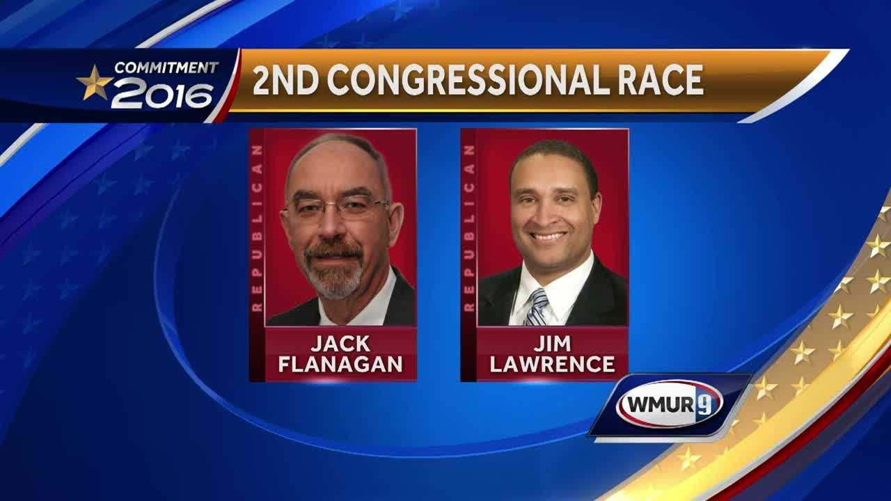 In the 2nd Congressional District race, state Rep. Jack Flanagan is facing off against former state Rep. Jim Lawrence.