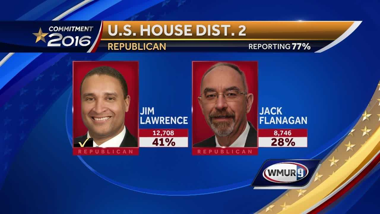 Jack Flanagan conceded the race in the 2nd Congressional District to Jim Lawrence Tuesday night.