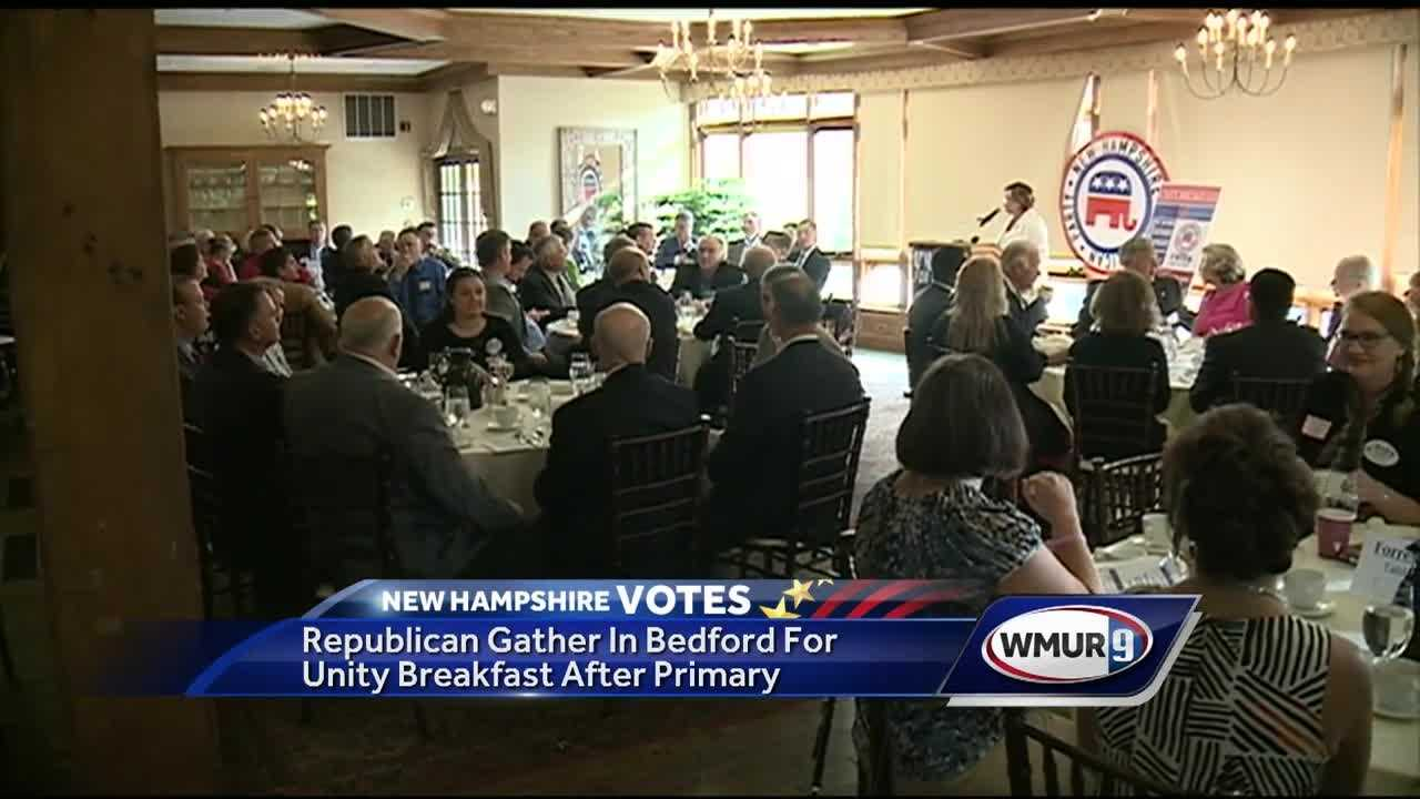With four of the five major races decided, New Hampshire Republicans gathered Wednesday in Bedford to put the primary behind them and focus on defeating Democrats.