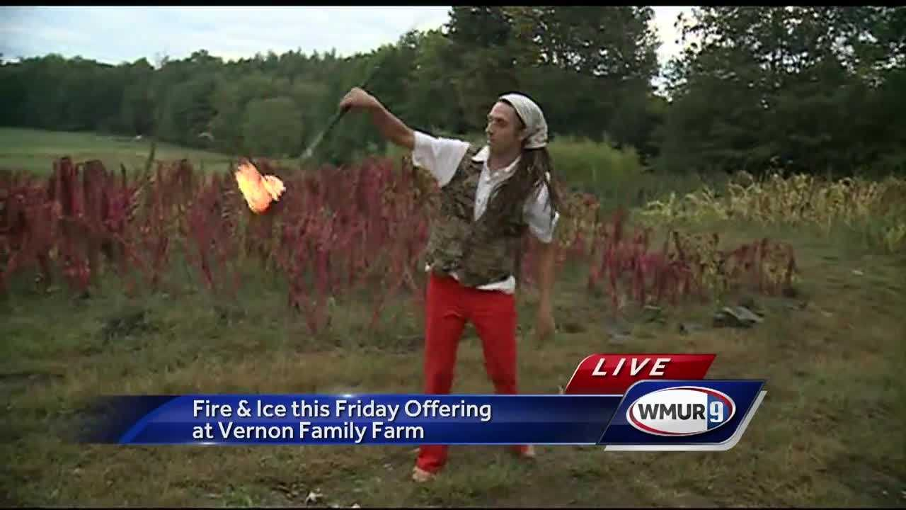 Meteorologist Hayley LaPoint is checking out the Fire & Ice event at Vernon Family Farm.