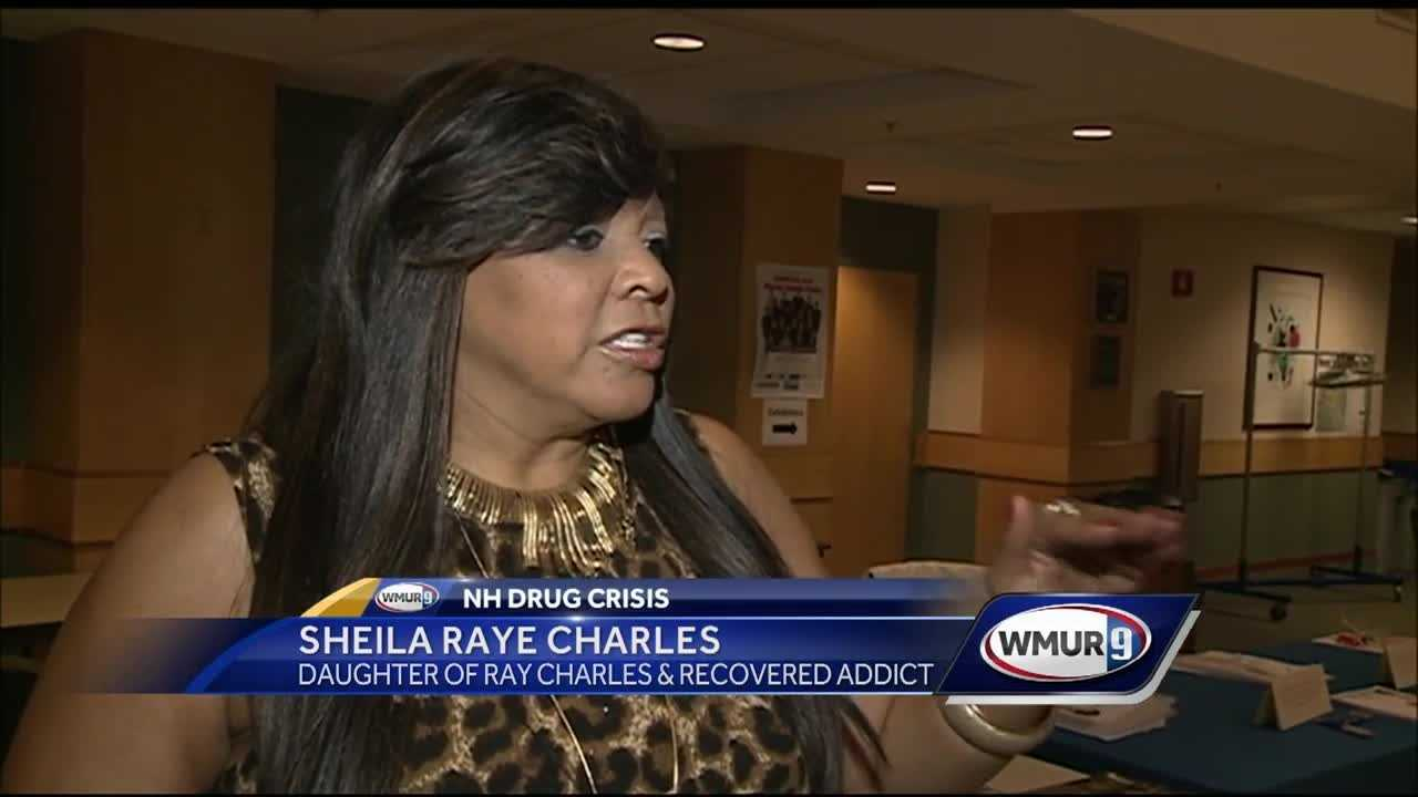 The daughter of musician Ray Charles was in New Hampshire Wednesday to address developing the substance use disorder and mental health work forces.