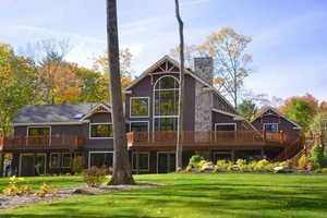 The home in Meredith, built in 2012, is on the market for $4,875,000. It sits on 15 acres of waterfront land.