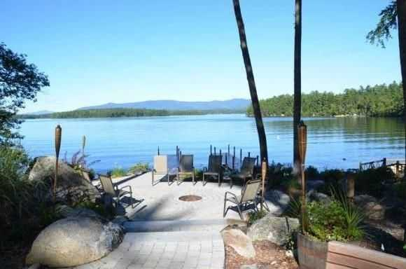The property offers 155 feet of prime waterfront land.