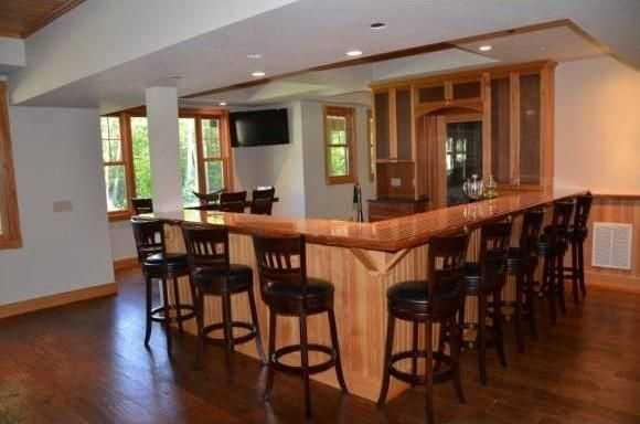 The home has a large bar.