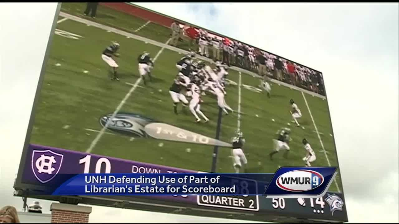 The University of New Hampshire is facing questions about how it paid for its scoreboard at its newly renovated stadium.
